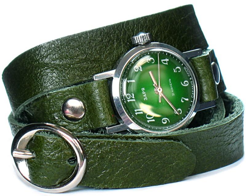 Кожаные браслеты для часов в 2-3 оборота вокруг руки