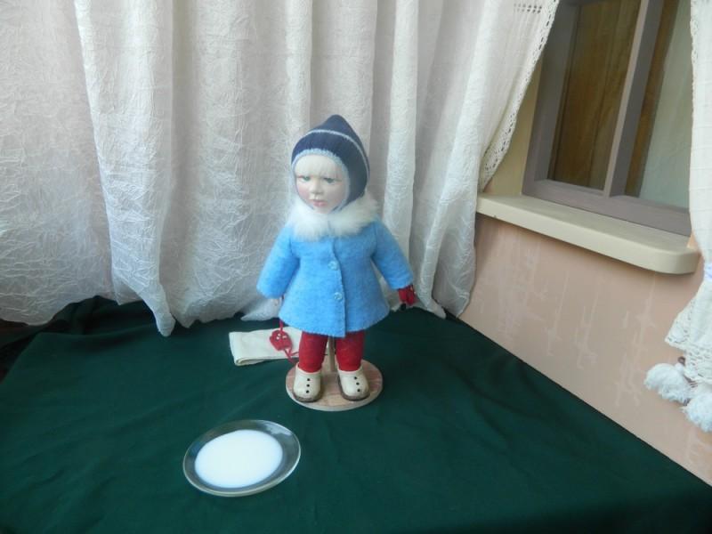 Текстильная кукла авторская работа. Техника скульптурный текстиль.