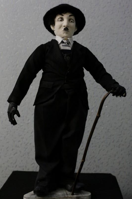 Чарли Чаплин. Интерьерная авторская кукла.