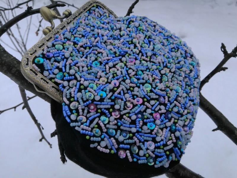 Вечерняя сумочка Северное сияние