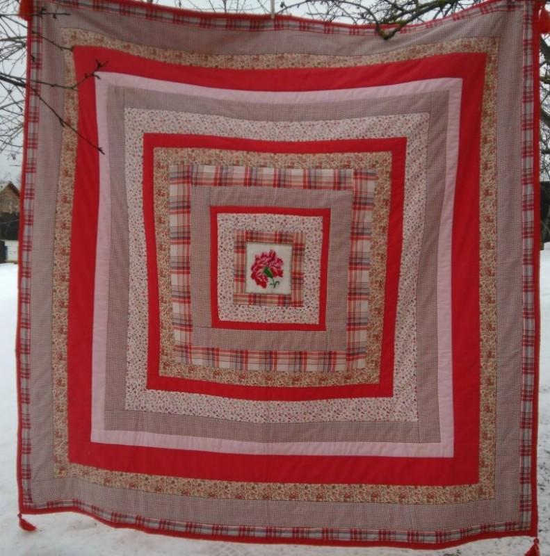 Лоскутное одеяло Аленький цветочек