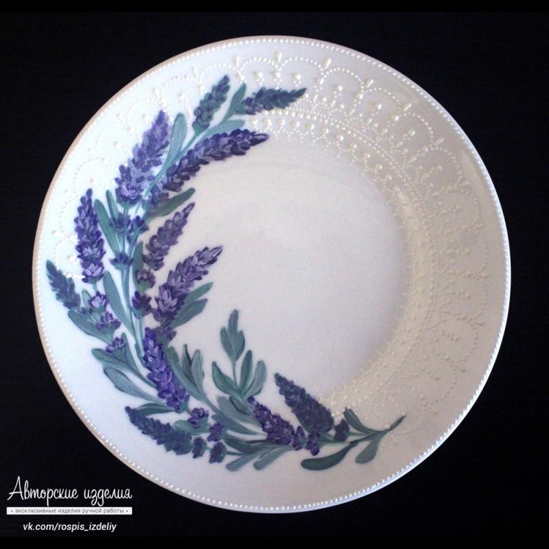 Декоративная тарелка Ветка лаванды