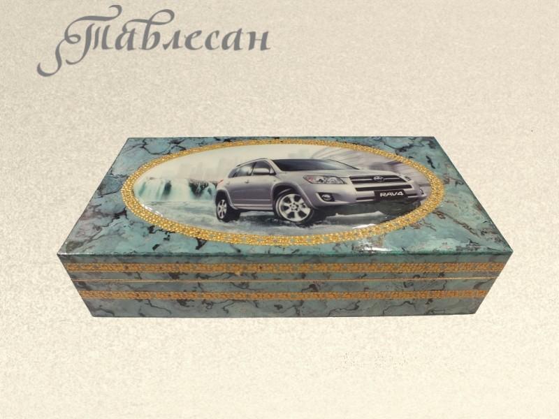 Купюрница (Шкатулка для денег) Машина моей мечты для мужчин декупаж