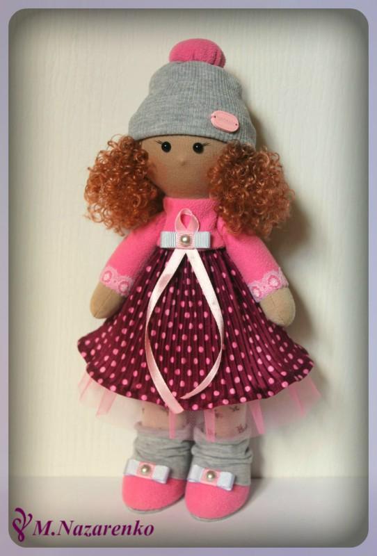 Текстильная куколка-снежка