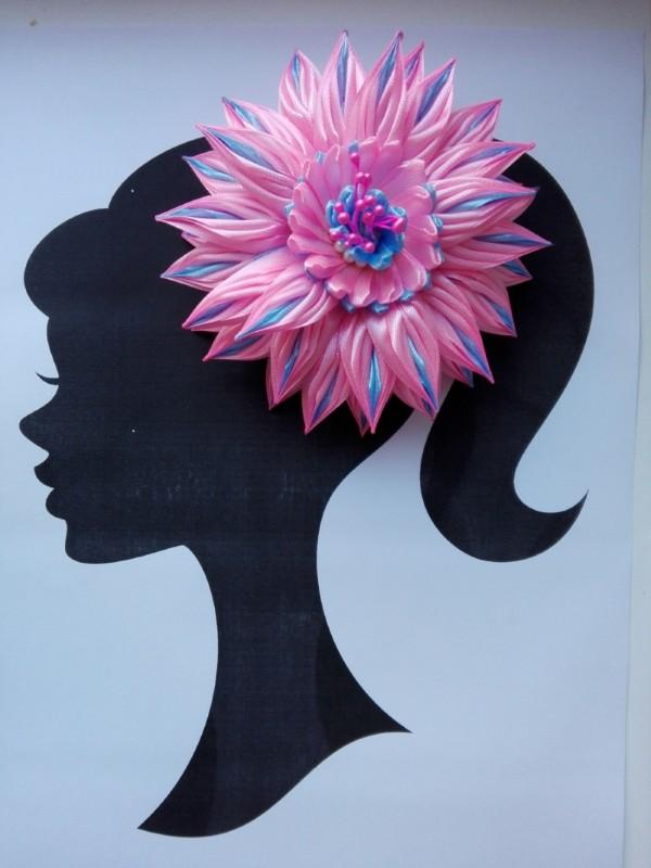 Цветок «Флора» на ободке в стиле канзаши.