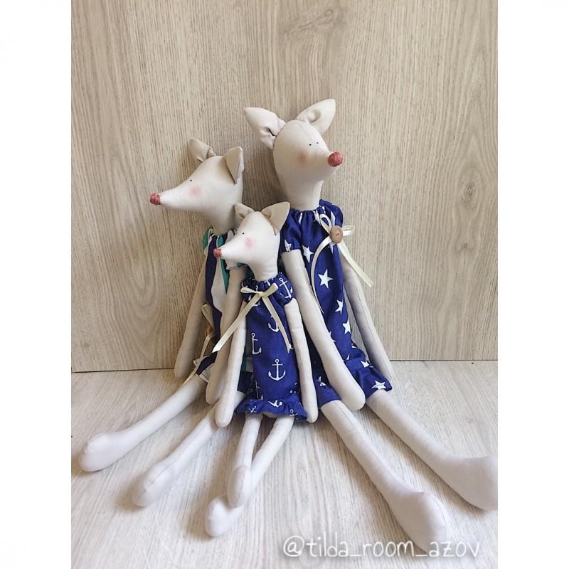 Текстильная игрушка Сестрички Лисички