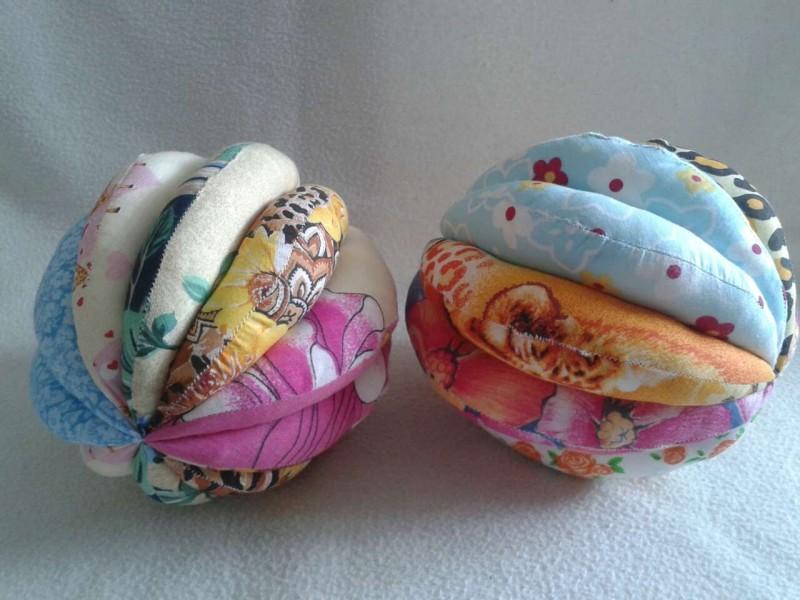 Мягкие текстильные мячики