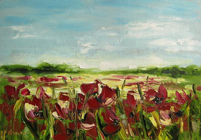 Картина Маковое поле