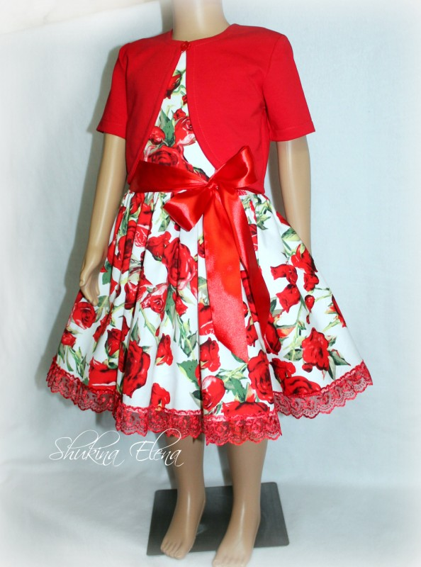 Платье Красная Рoза