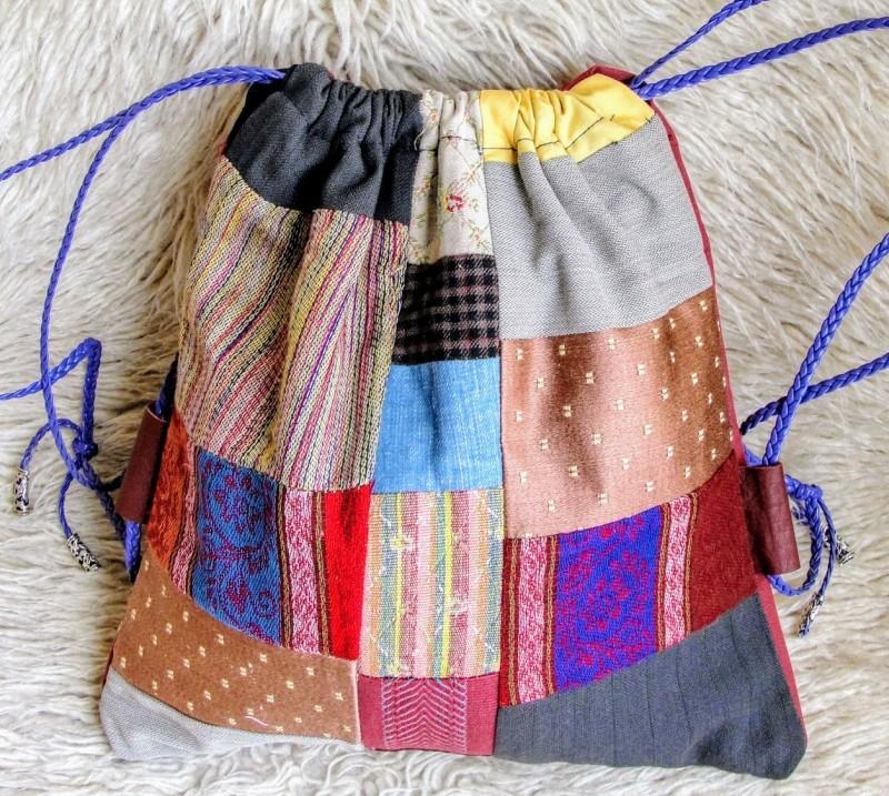 рюкзак в стиле пэчворк