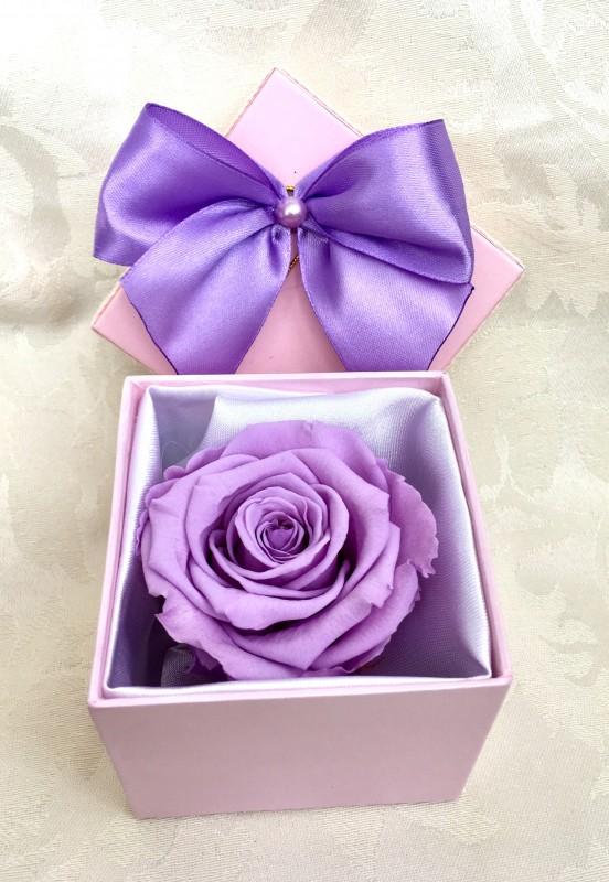 Стабилизированная роза в подарочной коробочке