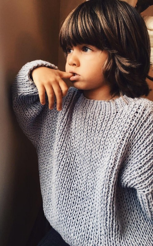 Джемпер Over Size ручной вязки.