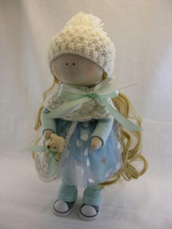 Интерьерная кукла из ткани Элли