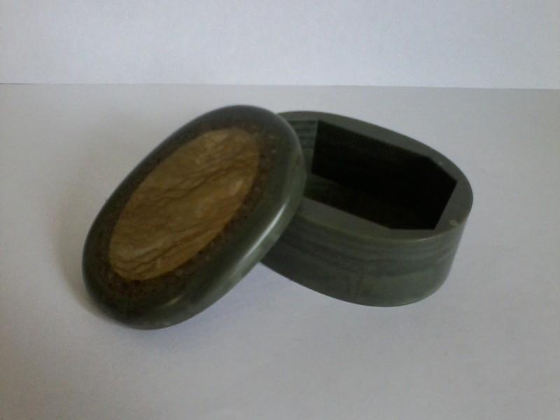 шкатулка овальная из натурального поделочного камня