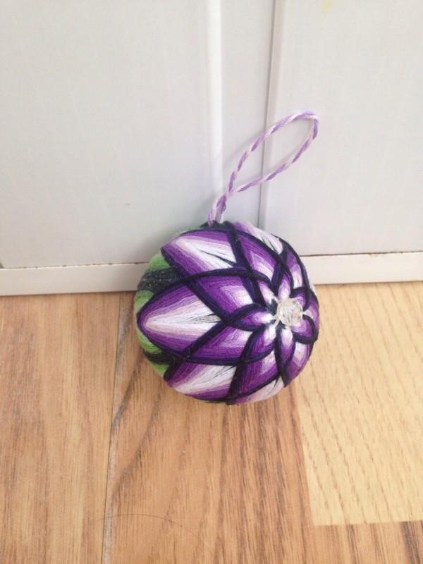 Новогодний шарик Лотос