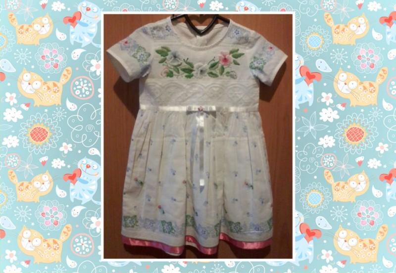 Детское платье с вышивкой