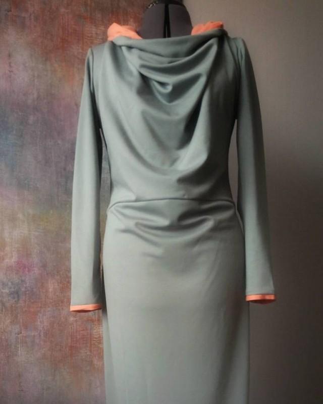 Платье-худи в пол