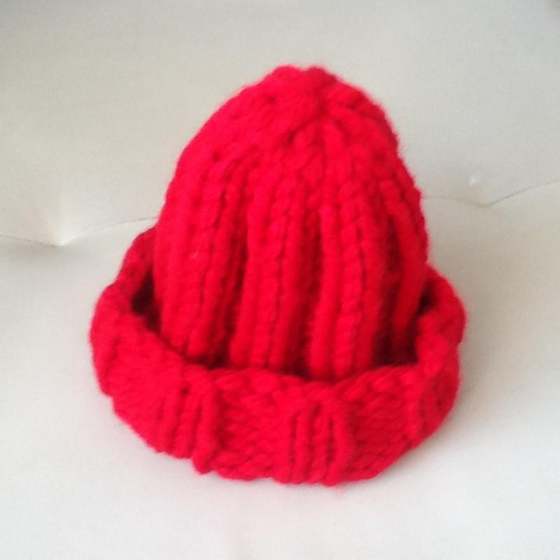Вязаная шапка цвета яркогогренадина из коллекции Total Red