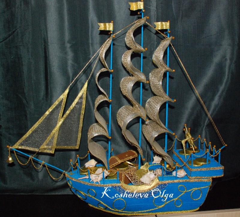 Корабль в подарок символизирует 55