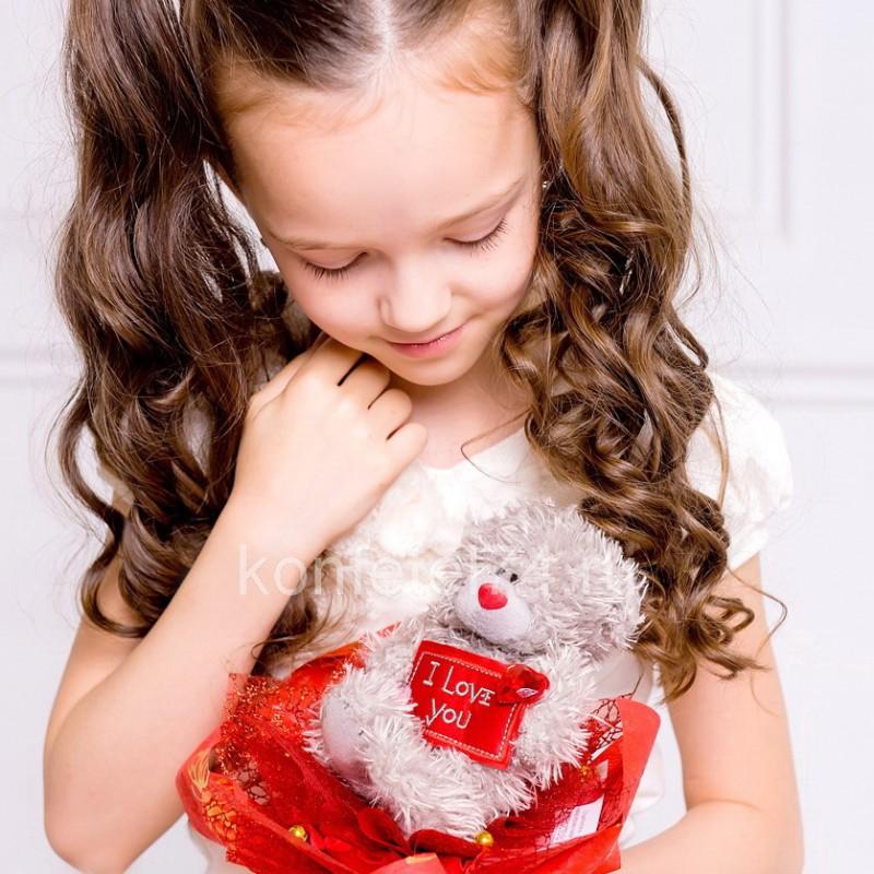 Букет из мягкой игрушки Мишка Тедди (красный)