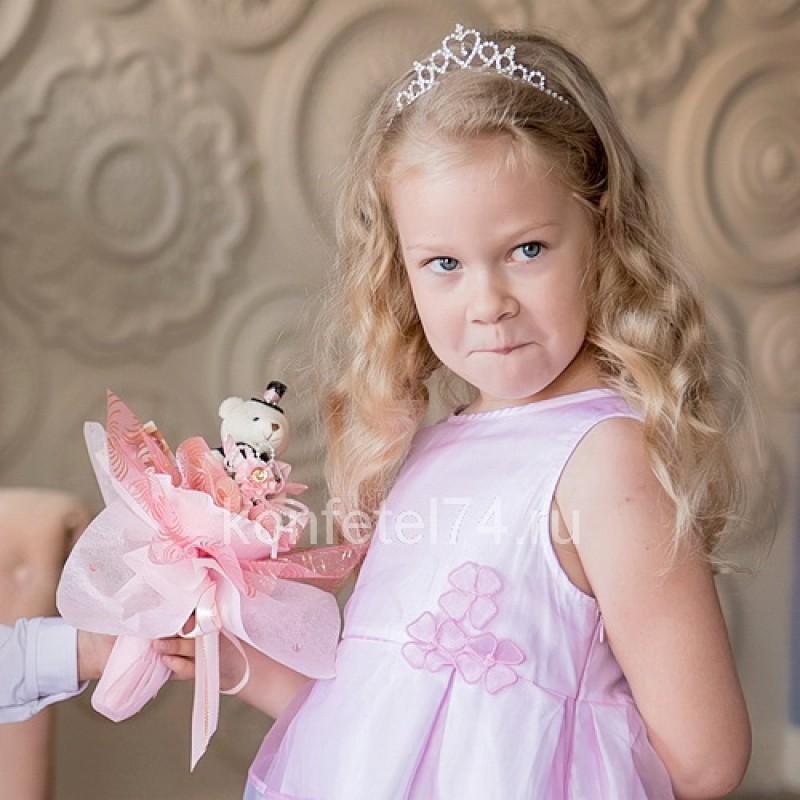 Букет из мягкой игрушки Мишка (розовый)