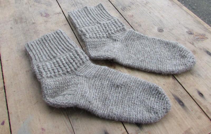 Носки вязаные Теплая зима