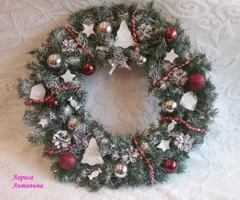 """Новогодний венок """"Снежный"""""""