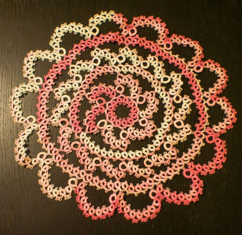 Салфетка `Солнцеворот` розовый.