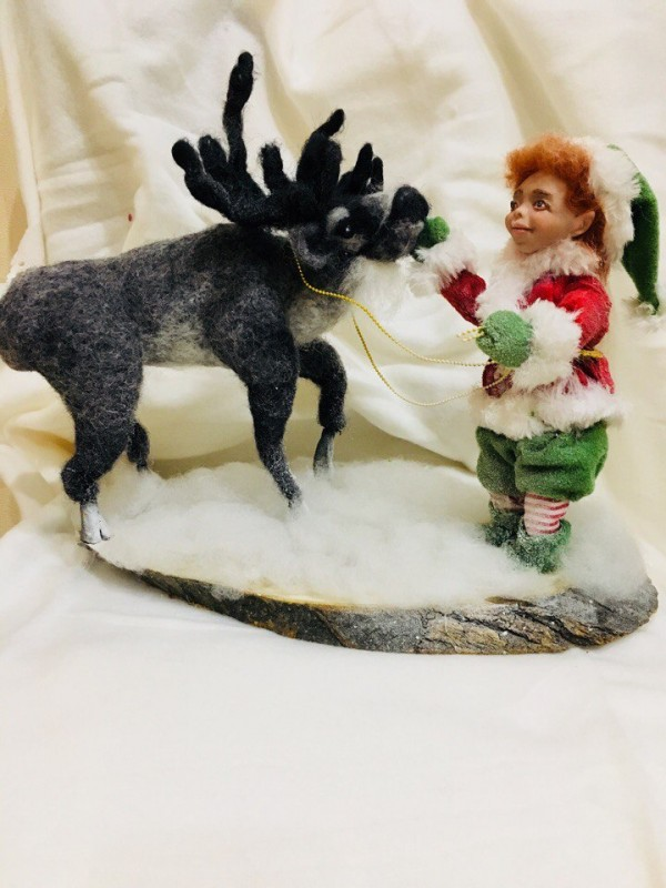 эльф и северный олень