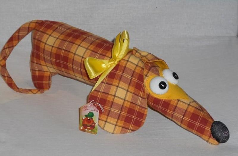 игрушка текстильная Такса