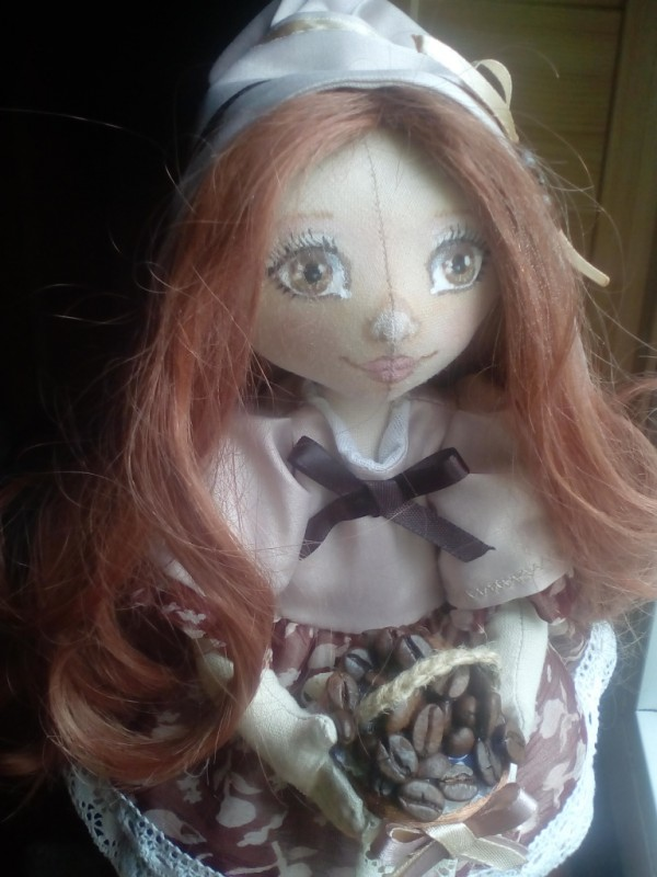 Кукла КоФеечка. Кофейная фея.Девочка Мокко.