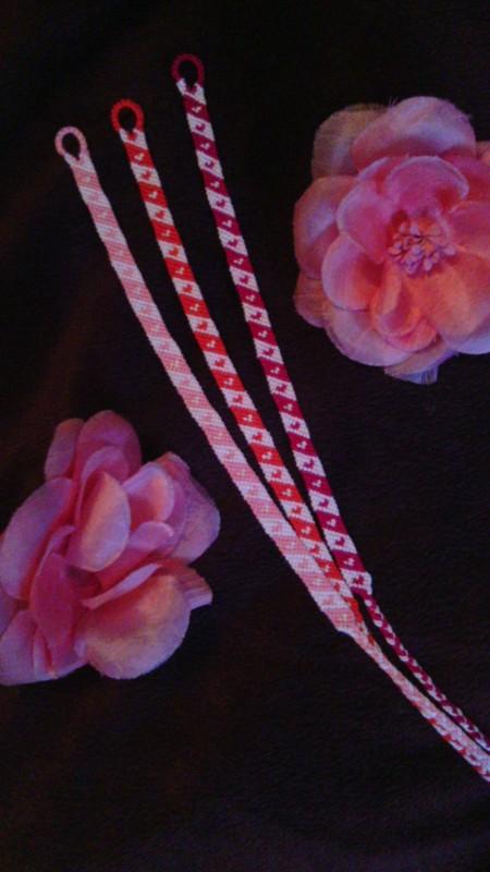 Фенечки браслеты с сердечками