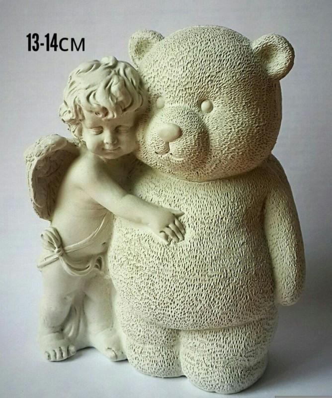 Статуэтка ангел с мишкой