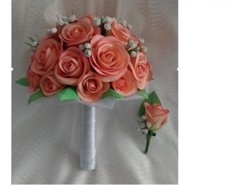 Букет невесты из фоамирана.