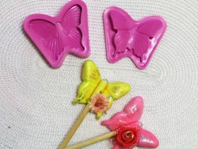 Двухсторонний молд № 31105 бабочка 1 шт.