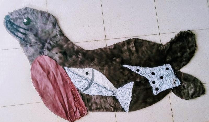 Прикроватный коврик морской котик