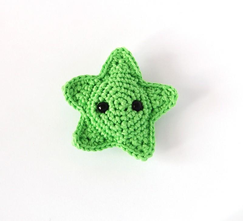 Тактильная развивающая вязаная игрушка морская звезда амигуруми