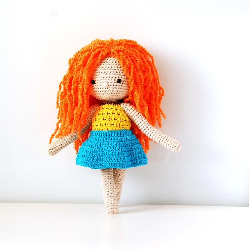 Вязаная кукла амигуруми рост 30 см.