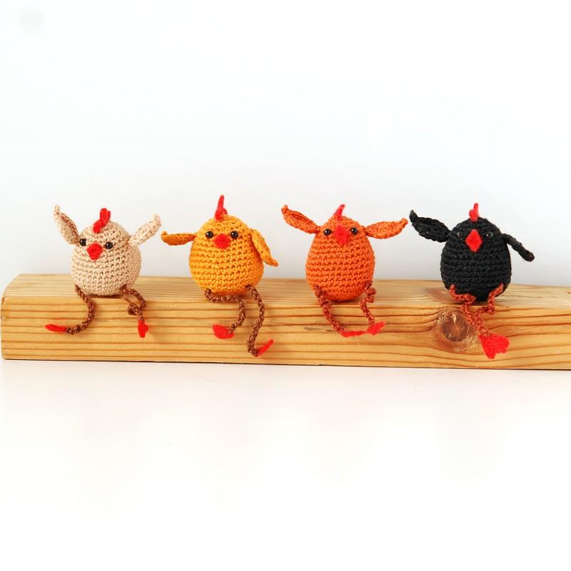 Вязаная игрушка курочка амигуруми