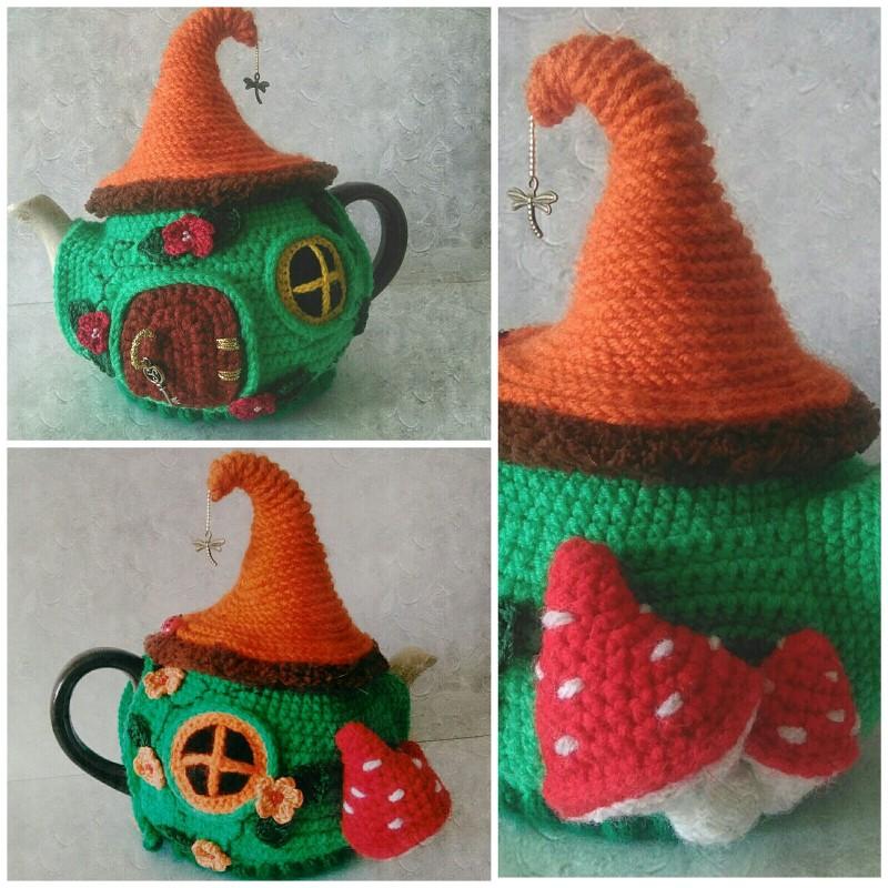 Грелка на чайник Сказочный домик