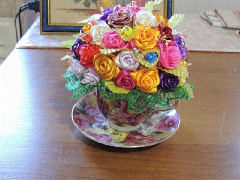 Чайная чашка с розами