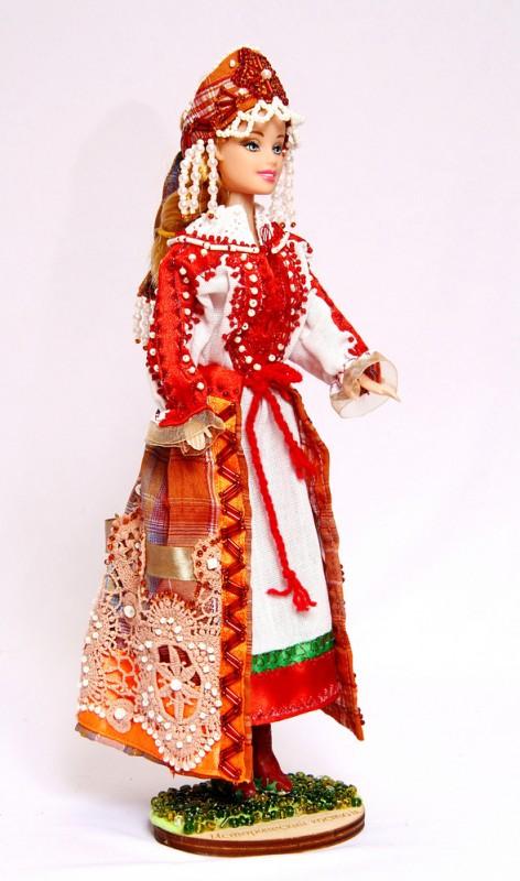 Исторический костюм на кукле Барби РОССИЯ Праздничный костюм крестьянки