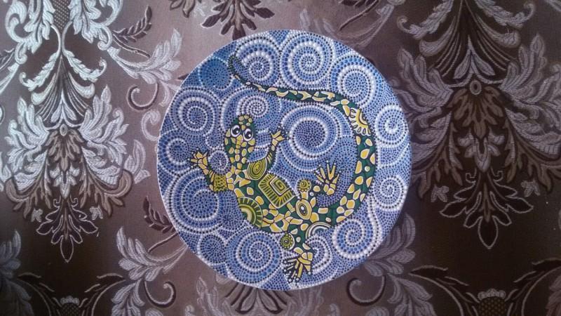 Декоративная тарелка  Ящерка