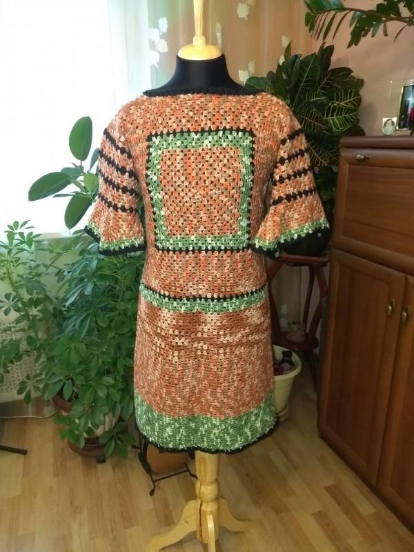 Платье женское Бабушкин квадрат
