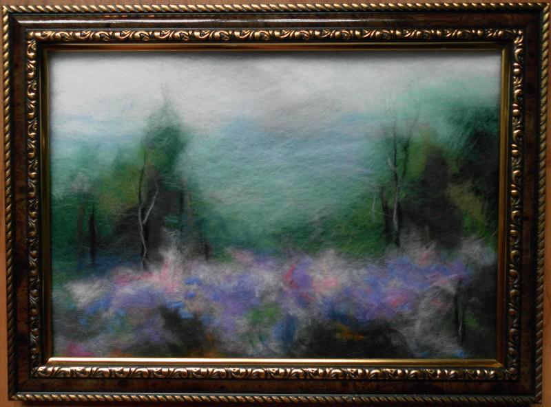 Картина из шерсти В тумане
