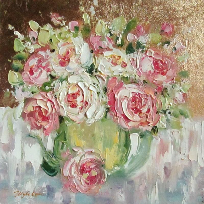 Розы на сусальном золоте