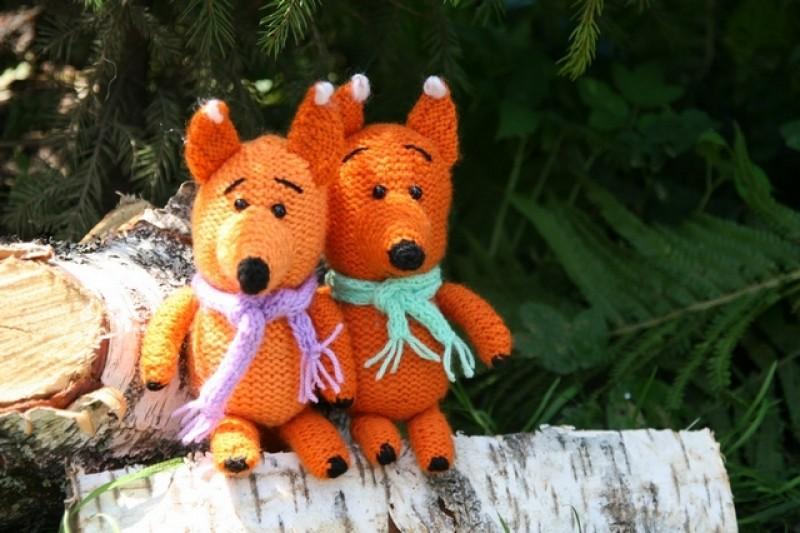 Рыжие лисички