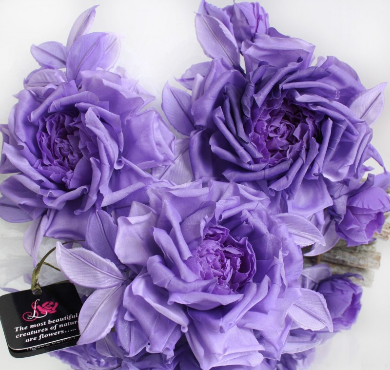 Брошь роза «Королева красоты». Цветы из ткани