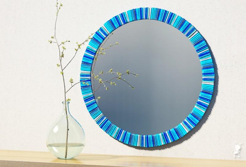 Круглое зеркало для ванной