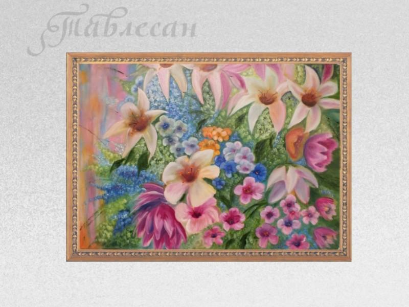 Картина Букет на 8 Марта. Лилии холст масло